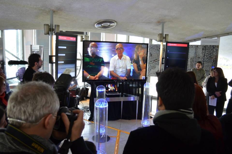 Conferencia en vivo desde Linz (Austria): Dr. Jorge Genovese, Ing. Joaquín Fargas y Romina Flores.