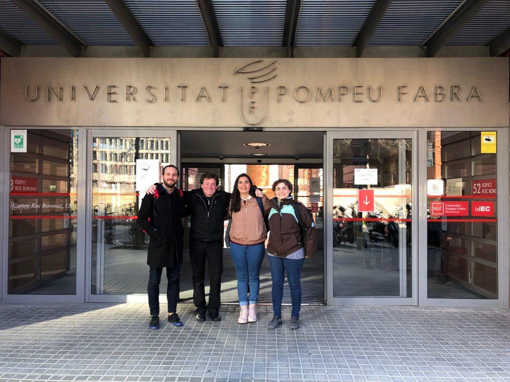 Profesores investigadores de la Universidad Maimónides en la Universitat Pompeu Fabra