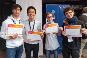El tercer puesto fue para Matías Waicman (Escuela Técnica ORT), Axel Julian Dumas Cutuli (UMAI), Alejandro Mikowski (Escuela Técnica ORT) y Gonzalo Dan Slucki (Escuela Técnica ORT).